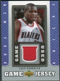 2007/08 Upper Deck UD Game Jersey #ZR Zach Randolph