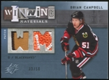 2009/10 Upper Deck SPx Winning Materials Spectrum Patches #WMBC Brian Campbell 33/50