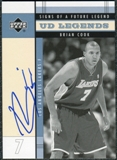 2003/04 Upper Deck Legends Signs of a Future Legend #BC Brian Cook Autograph