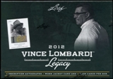 2012 Leaf Vince Lombardi Legacy Football Hobby Box