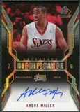 2007/08 Upper Deck SP Game Used SIGnificance #SIAM Andre Miller Autograph