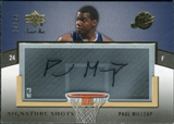 2007/08 Upper Deck Sweet Shot Signature Shots Acetate #SAPM Paul Millsap /25