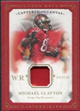 2008 Upper Deck Masterpieces Captured on Canvas Jerseys Patch #CC52 Michael Clayton /50