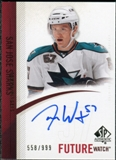 2010/11 Upper Deck SP Authentic #253 Tommy Wingels Autograph /999