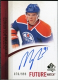 2010/11 Upper Deck SP Authentic #279 Magnus Paajarvi Autograph /999
