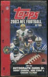 2003 Topps Football Retail 36 Pack Box