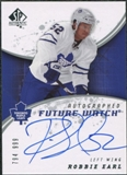 2008/09 Upper Deck SP Authentic #232 Robbie Earl RC Autograph /999