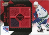 2008/09 Upper Deck Black Diamond Jerseys Quad Ruby #BDJMN Markus Naslund /100