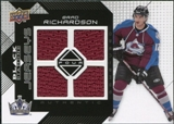 2008/09 Upper Deck Black Diamond Jerseys Quad #BDJBR Brad Richardson