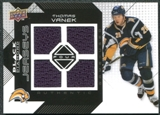 2008/09 Upper Deck Black Diamond Jerseys Quad #BDJTV Thomas Vanek