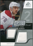 2008/09 Upper Deck SP Game Used Dual Authentic Fabrics #AFAM Andrei Markov