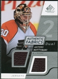 2008/09 Upper Deck SP Game Used Dual Authentic Fabrics #AFAN Antero Niittymaki