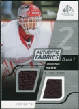 2008/09 Upper Deck SP Game Used Dual Authentic Fabrics #AFDH Dominik Hasek