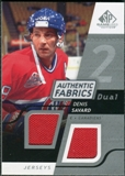 2008/09 Upper Deck SP Game Used Dual Authentic Fabrics #AFDS Denis Savard