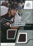 2008/09 Upper Deck SP Game Used Dual Authentic Fabrics #AFGN Simon Gagne