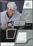 2008/09 Upper Deck SP Game Used Dual Authentic Fabrics #AFJS Jordan Staal