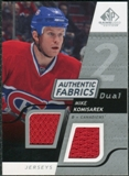 2008/09 Upper Deck SP Game Used Dual Authentic Fabrics #AFKM Mike Komisarek