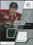 2008/09 Upper Deck SP Game Used Dual Authentic Fabrics #AFKO Mikko Koivu