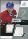 2008/09 Upper Deck SP Game Used Dual Authentic Fabrics #AFKV Saku Koivu