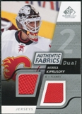 2008/09 Upper Deck SP Game Used Dual Authentic Fabrics #AFMK Miikka Kiprusoff