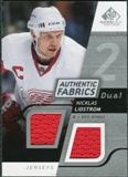 2008/09 Upper Deck SP Game Used Dual Authentic Fabrics #AFNL Nicklas Lidstrom