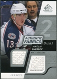 2008/09 Upper Deck SP Game Used Dual Authentic Fabrics #AFNZ Nikolai Zherdev