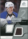 2008/09 Upper Deck SP Game Used Dual Authentic Fabrics #AFPA Paul Kariya