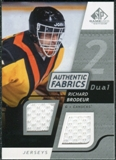 2008/09 Upper Deck SP Game Used Dual Authentic Fabrics #AFRB Richard Brodeur