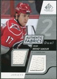 2008/09 Upper Deck SP Game Used Dual Authentic Fabrics #AFRD Rod Brind'Amour