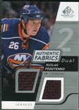 2008/09 Upper Deck SP Game Used Dual Authentic Fabrics #AFRF Ruslan Fedotenko