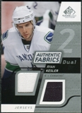 2008/09 Upper Deck SP Game Used Dual Authentic Fabrics #AFRK Ryan Kesler