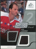 2008/09 Upper Deck SP Game Used Dual Authentic Fabrics #AFRL Rod Langway