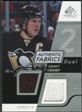 2008/09 Upper Deck SP Game Used Dual Authentic Fabrics #AFSC Sidney Crosby