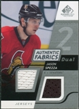 2008/09 Upper Deck SP Game Used Dual Authentic Fabrics #AFSP Jason Spezza