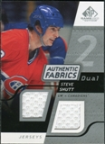 2008/09 Upper Deck SP Game Used Dual Authentic Fabrics #AFSS Steve Shutt