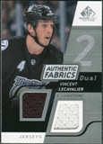 2008/09 Upper Deck SP Game Used Dual Authentic Fabrics #AFVL Vincent Lecavalier