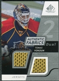 2008/09 Upper Deck SP Game Used Dual Authentic Fabrics #AFVO Tomas Vokoun