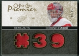 2007/08 Upper Deck OPC Premier Remnants Triples Patches #PRHA Dominik Hasek /35