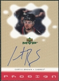 2000/01 Upper Deck MVP ProSign #CB Curtis Brown