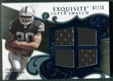 2008 Upper Deck Exquisite Collection Super Swatch Blue #SSDM Darren McFadden 7/20