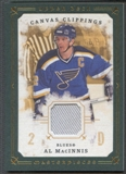 2008/09 UD Masterpieces #CCAM2 Al MacInnis Canvas Clippings Green Jersey #80/85