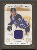 2008/09 UD Masterpieces #CCRO Luc Robitaille Canvas Clippings Brown Jersey