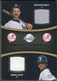 2008 Upper Deck Sweet Spot Swatches Dual #DMJ Don Mattingly Derek Jeter