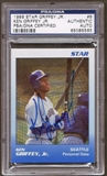 1989 Star Ken Griffey Jr. #8 Autographed RC PSA/DNA Slabbed