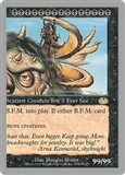 Magic the Gathering Unglued Single Big Furry Monster (Right Side) UNPLAYED (NM/MT)