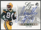 2003 SP Authentic #JW Javon Walker Sign of the Times Auto #163/600