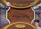 2007 Upper Deck Sweet Spot Signatures Glove Leather Black Ink #JN Joe Nathan /75
