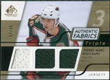 2008/09 Upper Deck SP Game Used Triple Authentic Fabrics Gold #3AFBO Pierre-Marc Bouchard /25