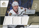 2008/09 Upper Deck SP Game Used Triple Authentic Fabrics Gold #3AFLG Robert Lang /25