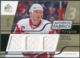 2008/09 Upper Deck SP Game Used Triple Authentic Fabrics Gold #3AFNL Nicklas Lidstrom /25